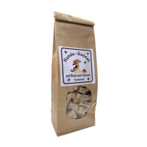 Snacks für Hunde ab 8 kg – goodness – Rind & Calcium – 250g.