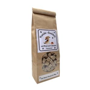 Snacks für Hunde bis 8 kg – goodness – Rind & Calcium – 250g.